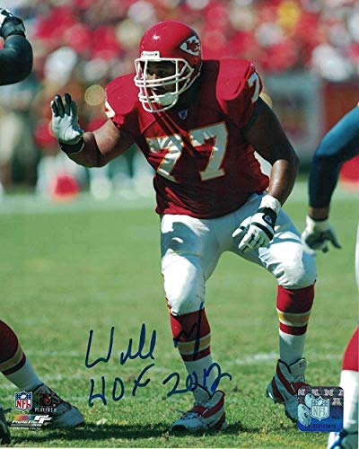Willie Roaf Autographed Kansas City Chiefs 8x10 Photo (Red) HOF
