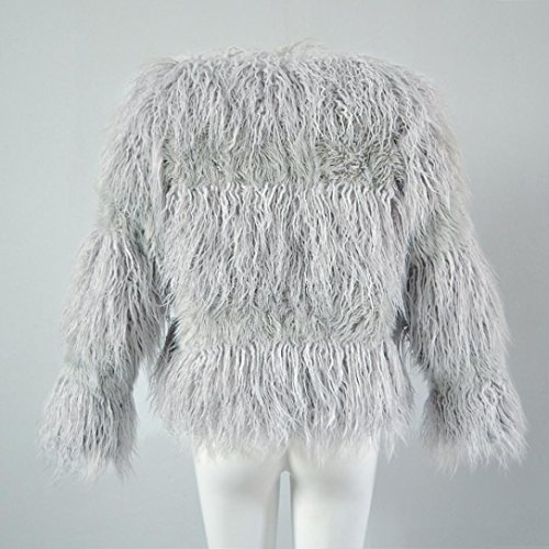 HP95(TM) New Fashion Womens Warm Faux Fur Coat Jacket Winter Parka Outerwear (XXL, Gray) by HP95(TM) (Image #5)