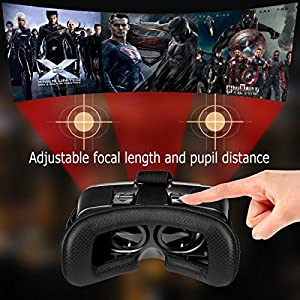 """Cyber Cart Virtual Reality Headsets, 3D VR Glasses for Games & Movies 3.5""""-6"""" Ios Android Phones by Cyber Cart"""