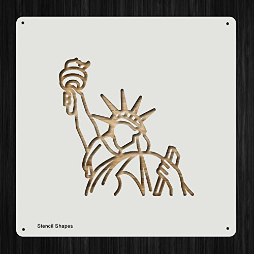 Statue Of Liberty Independence Plastic Mylar Stencil for Painting, Walls and Crafts, Item 862542 ()