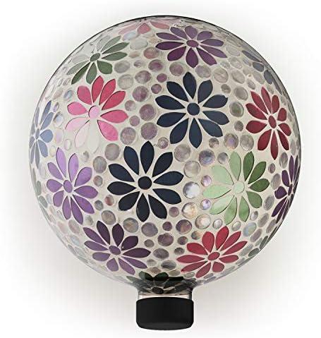 Alpine Corporation HGY426 Alpine Glass Glazing Globe Gazing Balls Multicolor