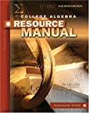 College Algebra with Applications Resource Manual, Stone, Jacqueline, 0757541585