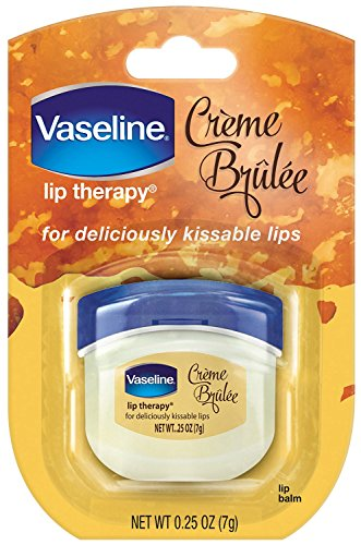 - Vaseline Lip Therapy, Creme Brulee 0.25 Oz (3 Pack)