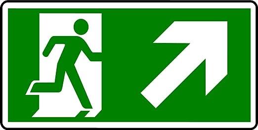 Plástico semirrígido-cartel de salida de emergencia-MAN con ...