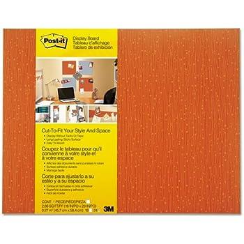 Post-it Display Board, 18 x 23, Tangelo, Frameless