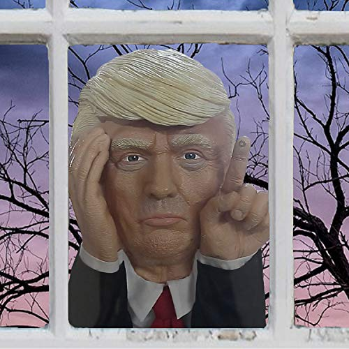 Tapping President Scary Halloween Decoration   Motion Activated Tapping President Window Decoration Prop Actually Taps on Windows   Keep America Great ()