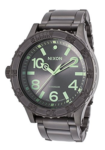 Nixon A351-1418 Men's 51-30 Gunmetal Titanium And Dial Titanium Watch