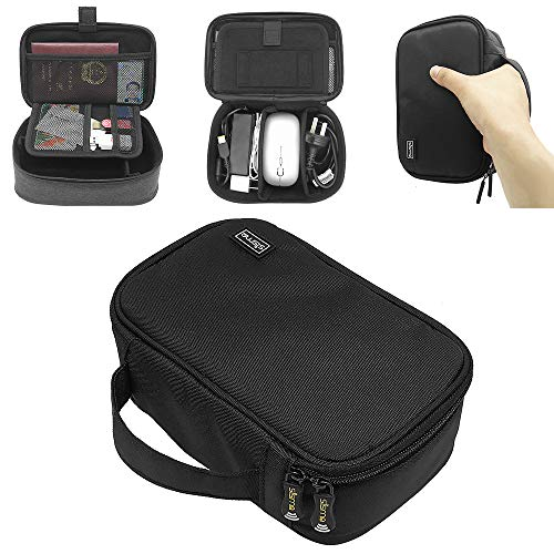 sisma Universal Travel Case Electronics Organizer Carrying Bag for Small Electronics and Accessories, Black 1000D Fabrics SCB17092B-OB