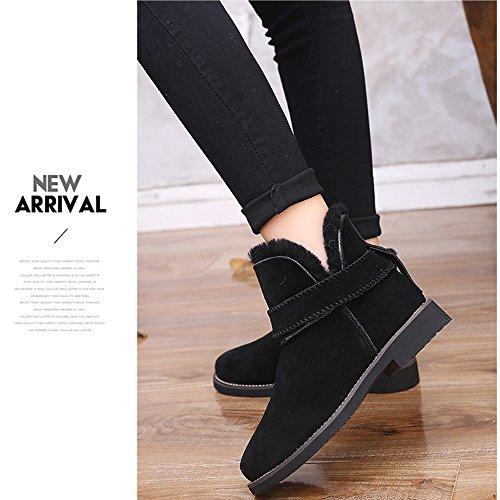 Hiver De Plates Femme Cheville Noir Chaussures Antidérapante Neige Bottes Bottines gUd1qd