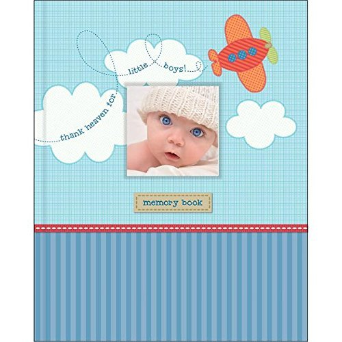 Stepping Stones Baby Boys Airplane Memory Record Book, Blue