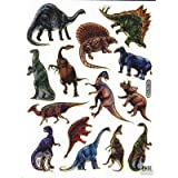 dinosaurs animal sticker decal Metallic Glitter 1 sheet Dimensions: 13.5 cm x 10 cm