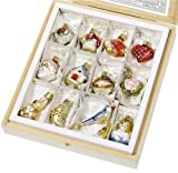 Bride's Tree Ornaments Mini Set of 12 By Inge-Glas, Hand Made in Germany
