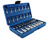 ABN Master Hex Socket Set – 32-Piece Universal SAE and Metric Kit – Allen Socket Bit 5/64-inch to 3/4-inch 2mm to 19mm