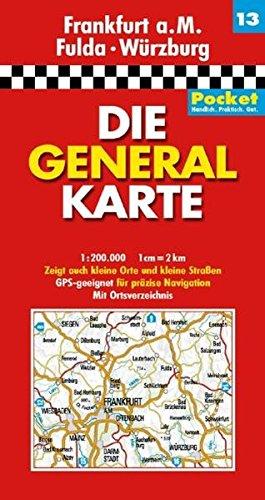 Die Generalkarte Pocket Frankfurt a.M. Fulda Würzburg 1:200 000