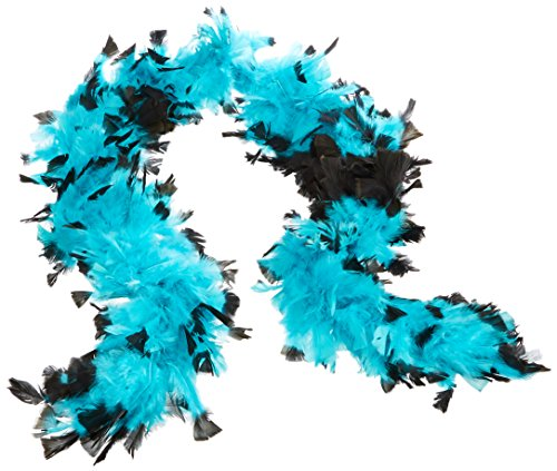 Deluxe 133g Jade/Black Feather Boa Costume Accessory