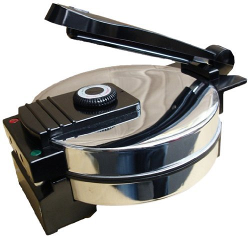 (Saachi SA1650 Electric Non-Stick Roti Chapati Flat Bread Wraps/Tortilla Maker with Temperature Control)