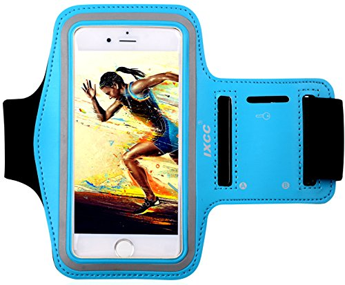 iXCC Racer Series Dual Arm-Size Slots Sporty Gym Armband with Key Pocket for iPhone 6, 6s, 5s, 5, 5c, iPod MP3
