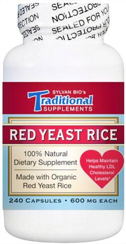 Les suppléments traditionnels de levure de riz rouge, 600 mg, 240 capsules Capsules