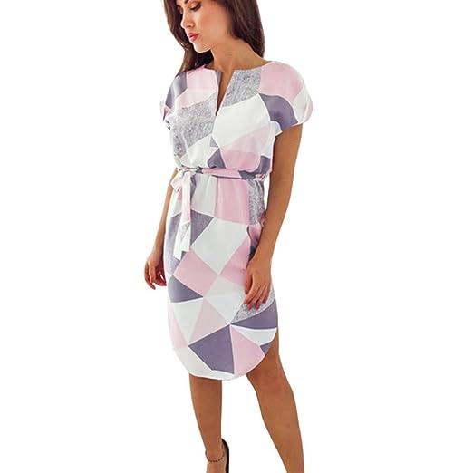 Amazon.com: Teresamoon Hot Sale! Mini Dress Women Summer Short Sleeve Floral Print V Neck Dress: Clothing
