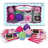 """Sophia's 18"""" Doll Play Food Cupcakes, Petit Fours and Napkins"""
