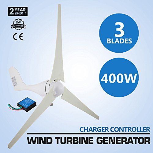 (9TRADING Wind Turbine Generator 3 Blades 400 W DC 12 V Power Supply with Charge Controller)