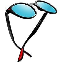 Kimorn Polarized Sunglasses Unisex Oval Frame Classic Red Rubber Temple K0625