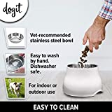 Dogit Elevated Dog Bowl, Stainless Steel Food