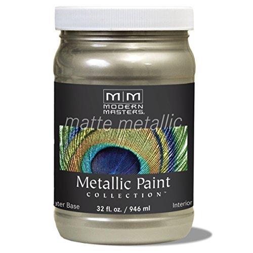 Modern Masters MM206 Matte Metallic Paint, Champagne, Quart by Modern Masters