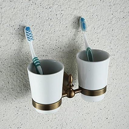 Euro Estilo Recuerda en el portavasos Soporte para vasos agua Bol para fregaderos cerámica Pincel portavasos