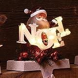 """6.5"""" LED Santa Noel Stocking Holder Holder, Battery-Operated #30433"""
