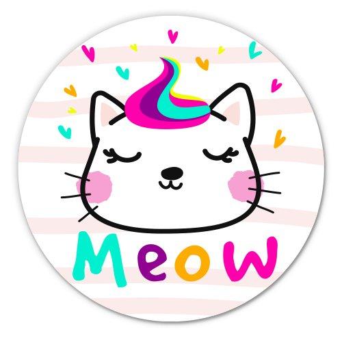 Cute Kitty Meow Adorable Vinyl Sticker - Car Window Bumper Laptop - SELECT SIZE (Ak Cat Litter)