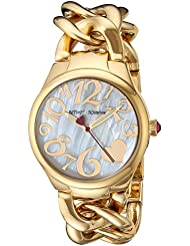 Betsey Johnson Womens Quartz Stainless Steel Casual Watch, Color:Gold-Toned (Model: BJ00297-12)