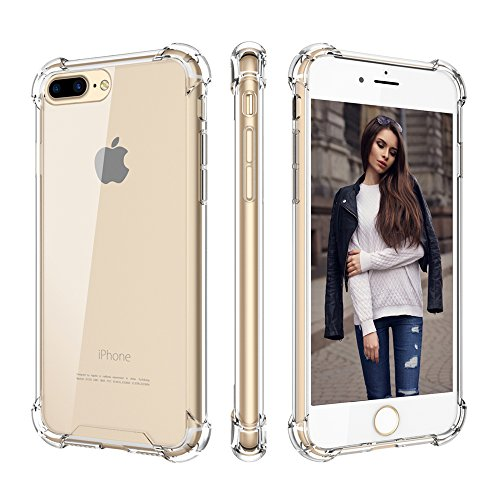 Cutebe Shockproof Hard PC+ TPU Bumper Case Scratch-Resistant Cover for Apple iPhone 7 Plus(2016)/iPhone 8 Plus(2017)