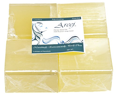 100% Pure Glycerin Soaps (Areej Hypo-Allergenic Biodegradable Hemp Seed Oil Soap Base made with 100% Pure Natural Glycerin - 5)