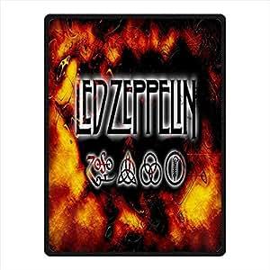 Amazon Com Needyou Led Zeppelin Fleece Throw Blanket