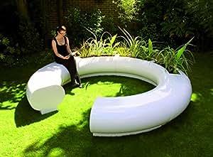 Banco de jardín–contemporáneo Aura Juego de muebles de vidrio moderna