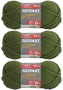 Bernat Softee Chunky Yarn, Super Bulky #6, 3 Skeins Eucalyptus 28247