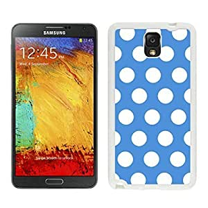 Speck Samsung Galaxy Note 3 Case Polka Dot Blue and White Soft Silicone White Phone Cover Accessories