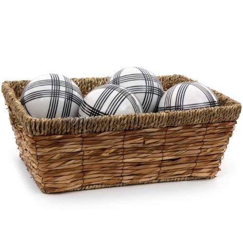Oriental Furniture 4'' Black Stripes Porcelain Ball Set