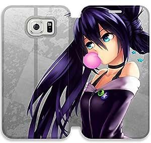 samsung galaxy S6 Flip Leather Phone Case Black Rock Shooter SF1DG6284512