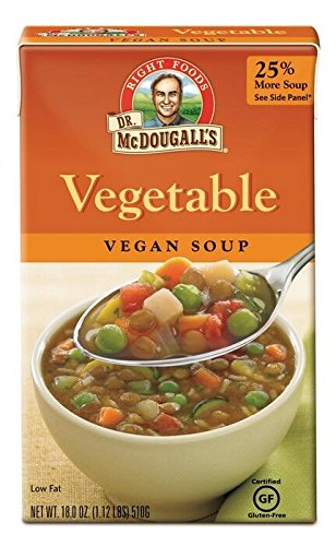Dr. McDougall's Right Foods Vegetable Soup, 18.0-Ounce Boxes (Pack of 6)