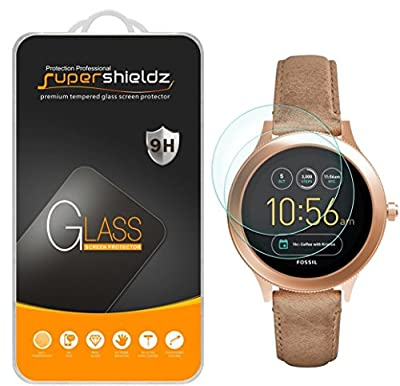 [2-Pack] Supershieldz for Fossil Q Venture Gen 3 Smartwatch Tempered Glass Screen Protector, [Full Screen Coverage] Anti-Scratch, Bubble Free, Lifetime Replacement Warranty