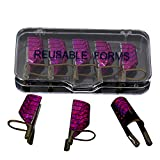 EDTara Reusable Nail Care Aluminum Prop Guide Forms Extension Tool for UV Gel Manicure Art Tools 5 Pcs/Set