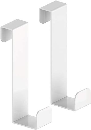 Pareja de toalleros para caja de ducha - Toallero de aluminio - Blanco: Amazon.es: Bricolaje y herramientas