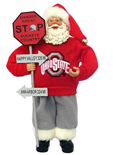 Santa's Workshop OHB025 Ohio State Country Santa Figurine, 12