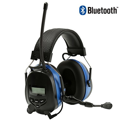 Noise Reduction Wireless Earmuffs With Bluetooth AM FM