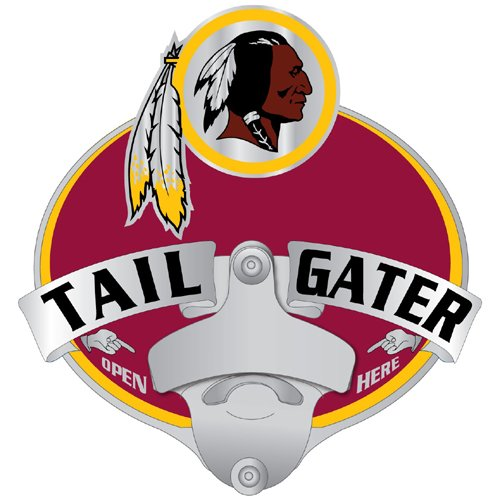 Hitch Bottle Opener (NFL Washington Redskins Tailgater Hitch Cover, Class III)