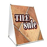 A-frame Sidewalk Tile Sale Sign With Graphics On Each Side | 24'' X 36'' Print Size