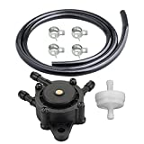 HIPA 692026 Fuel Pump with 2-Feet Fuel Line for Briggs and Stratton 496257