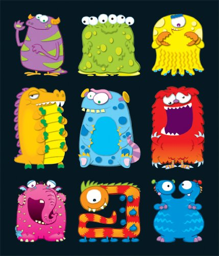 Carson Dellosa Monsters Prize Pack Stickers (168050) (Monster Sticker Sheet)